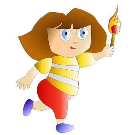 2º Estudo de cor da minha Dora (Freehand)